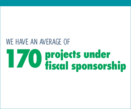 "Graphic that states ""We have an average of 170 projects under fiscal sponsorship"""