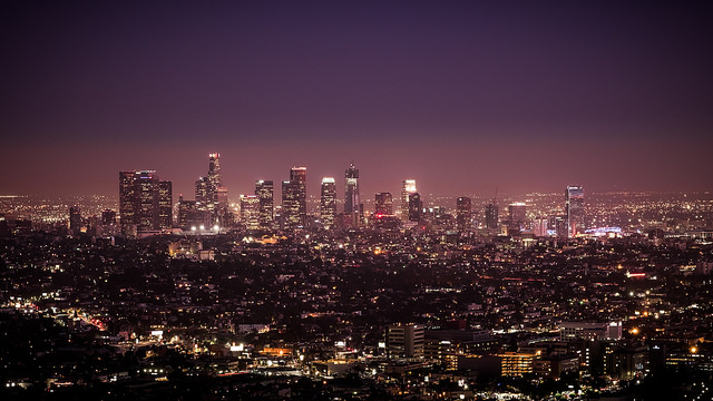 Downtown Los Angeles, CA at night