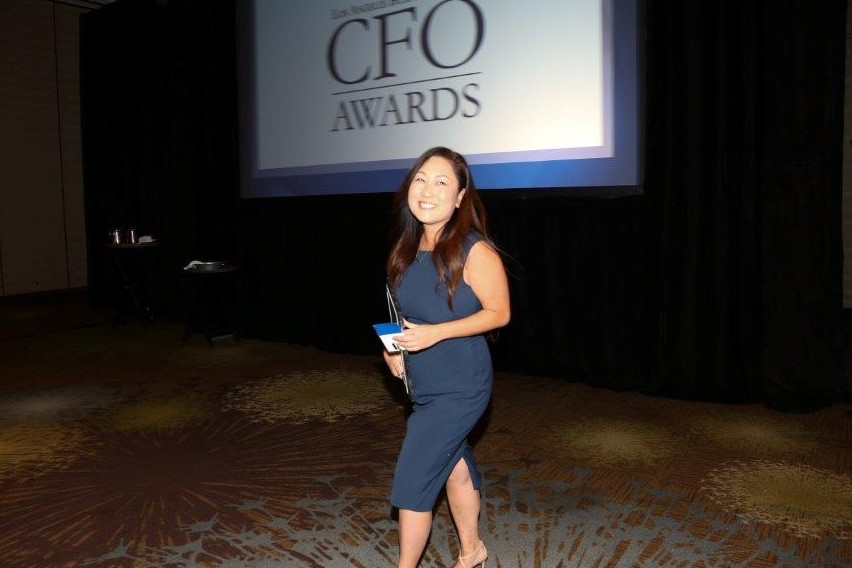 Mamie Funahashi receives CFO of the Year Award