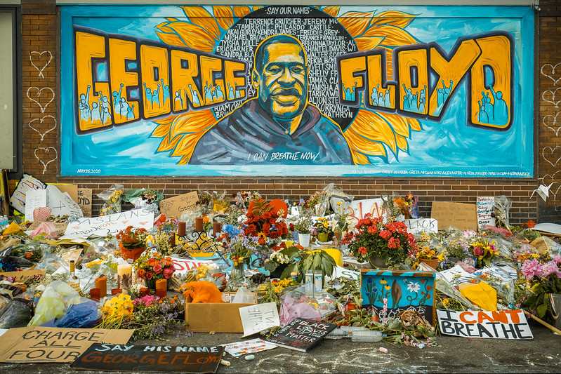George Floyd mural and memorial in South Minneapolis