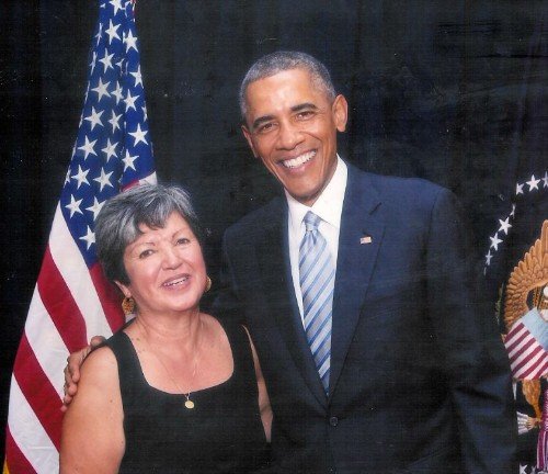 Executive Director Belinda Faustinos with President Barack Obama